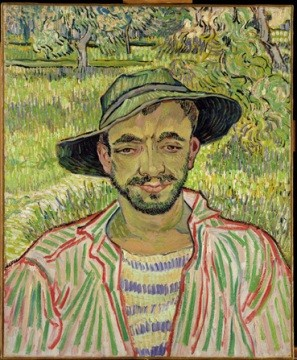 Vincent Van Gogh Portrait of a Young Peasant, 1889 Museo d'Arte Moderna, Roma