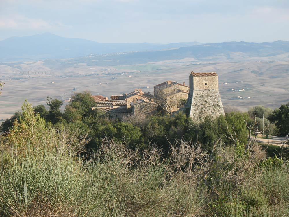panorama sul castello di vignoni e la val dorcia bagno vignoni