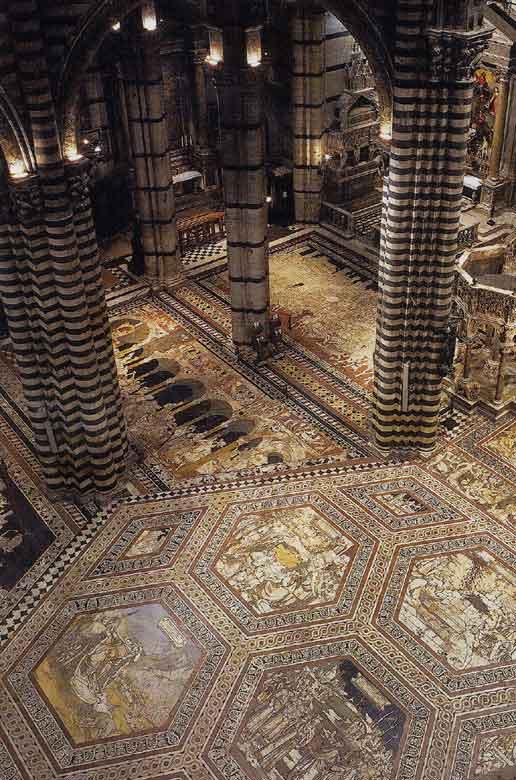 Duomo di siena, divina bellezza. il pavimento svelato del duomo di