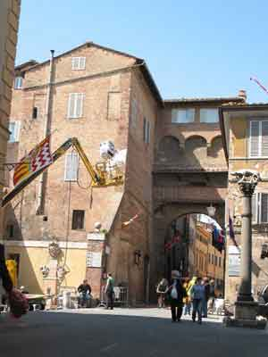 Siena, set di Quantum of Solace