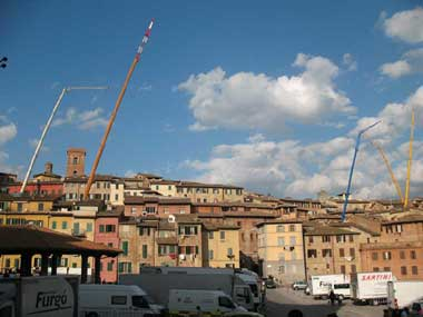 Siena, panoramica sul set di James Bond 007