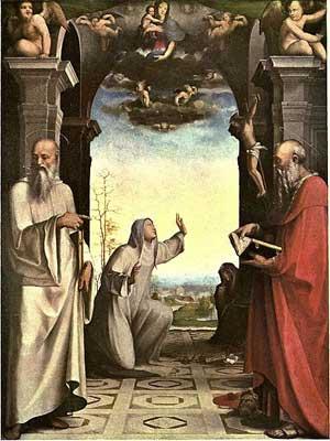 Santa Caterina riceve le stimmate, Pinacoteca Nazionale, Siena