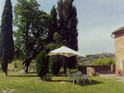The garden. Country Holidays 'La Torretta', Siena, Tuscany