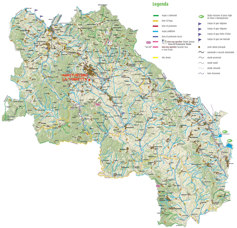 Cartina Fiumi Toscana.Siena Pesca Fiumi Fauna Ittica E Pesca In Provincia Di Siena